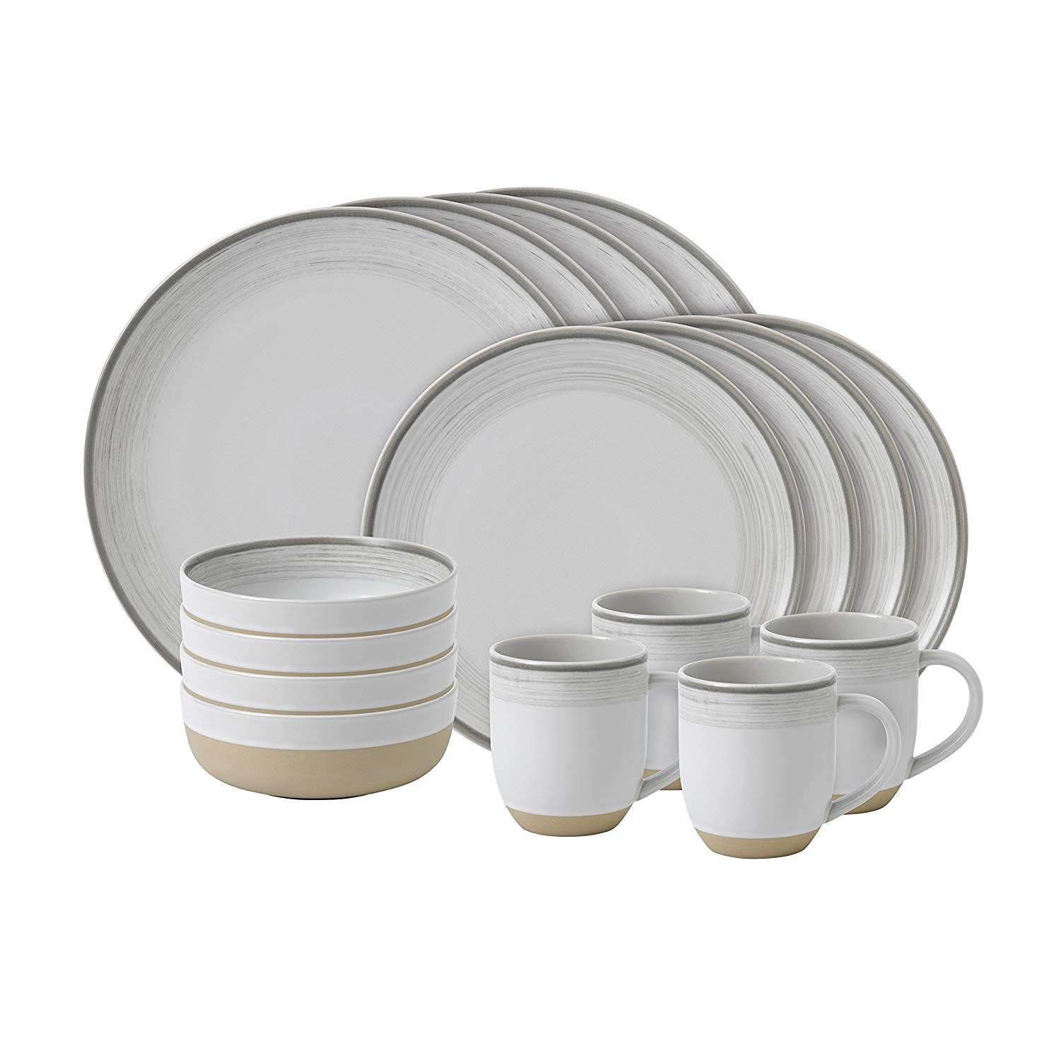 Онлайн каталог PROMENU: Набор посуды столовой Royal Doulton Brushed Glaze White, фарфор, белый, 16 предметов                                   40027653