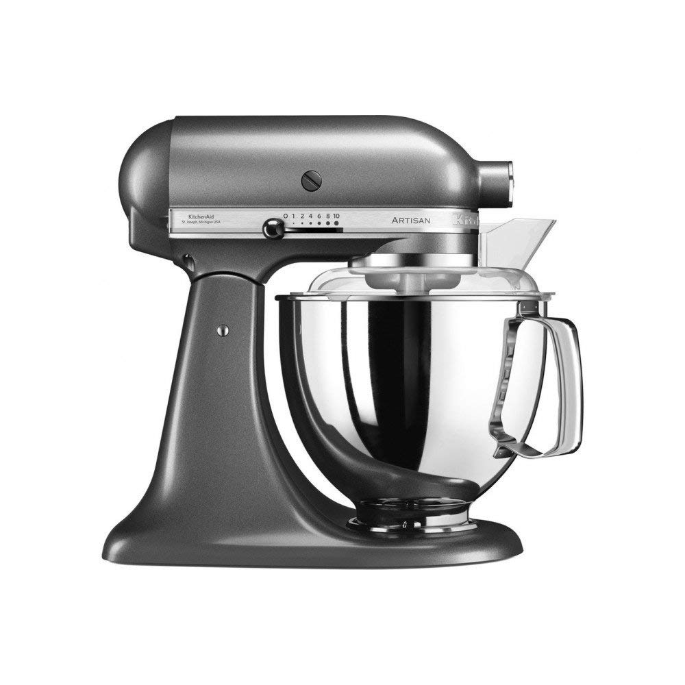 Онлайн каталог PROMENU: Миксер планетарный KitchenAid Artisan, объем чаши 4,83 л, серый                                   5KSM175PSEMS