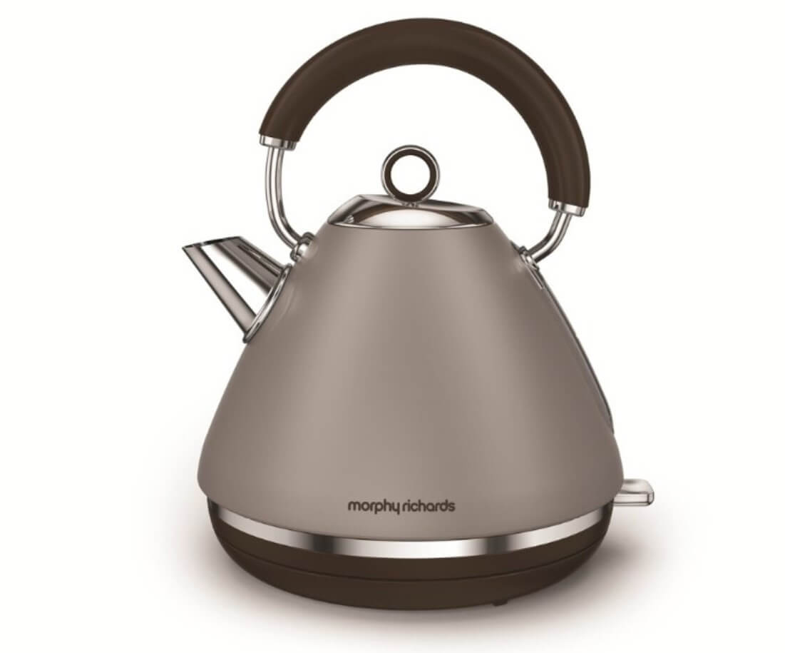 Онлайн каталог PROMENU: Чайник электрический Morphy Richards Accents, объем 1,5 л, серый                               102102EE