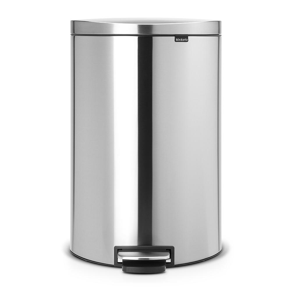Онлайн каталог PROMENU: Бак для мусора Pedal Bin Brabantia, объем 40 л, серебристый Brabantia 482021