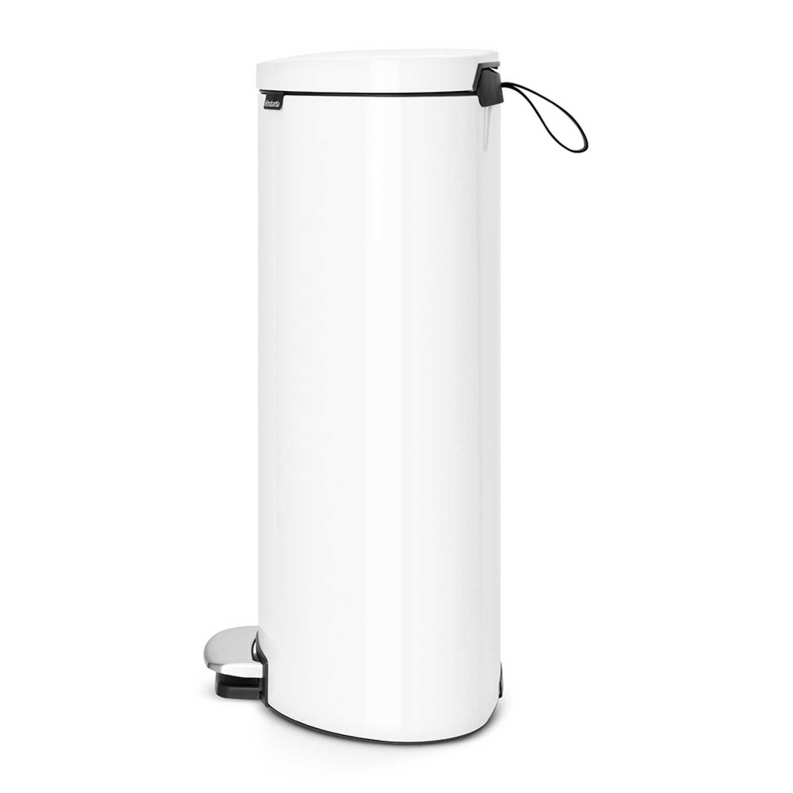 Онлайн каталог PROMENU: Бак для мусора с педалью Pedal Bin Brabantia, объем 30 л, белый Brabantia 485206