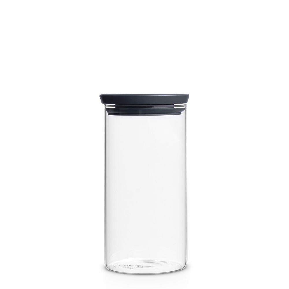 Онлайн каталог PROMENU: Банка модульная стеклянная Brabantia, объем 1,1 л, прозрачный с серым Brabantia 298264