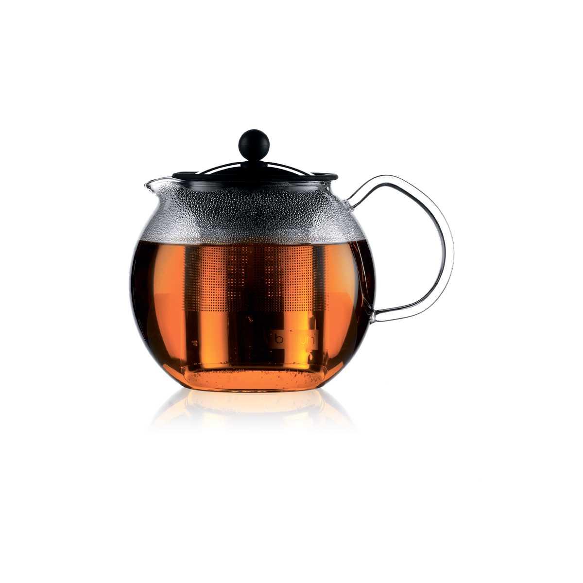 Онлайн каталог PROMENU: Чайник с прессом Bodum ASSAM, объем 1 л, прозрачный Bodum 1801-16