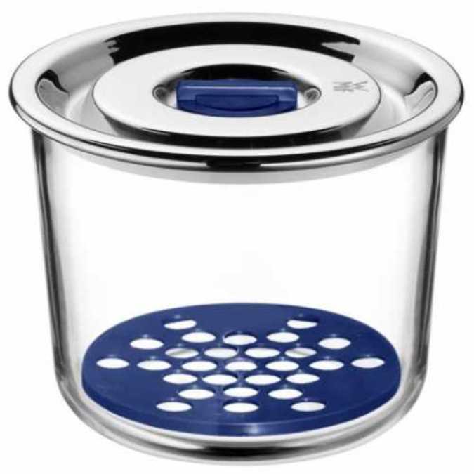 Онлайн каталог PROMENU: Емкость с крышкой для продуктов WMF Top Serve, диаметр 13 см, прозрачный с серебристым WMF 06 5499 6020
