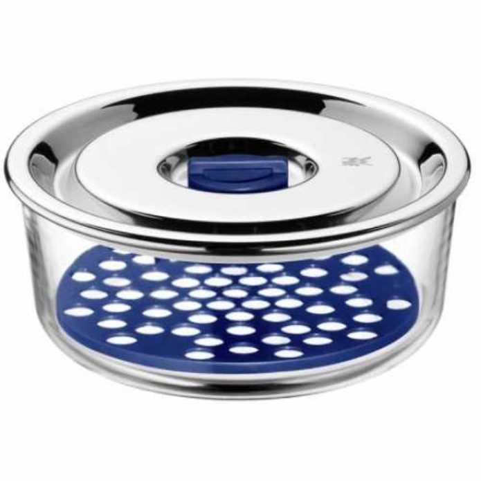 Онлайн каталог PROMENU: Емкость с крышкой для продуктов WMF Food Prep And Storage, диаметр 15 см, прозрачный с серебристым WMF 06 5486 6020