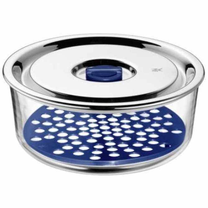 Онлайн каталог PROMENU: Емкость с крышкой для продуктов WMF Food Prep And Storage, диаметр 18 см, прозрачный с серебристым WMF 06 5487 6020