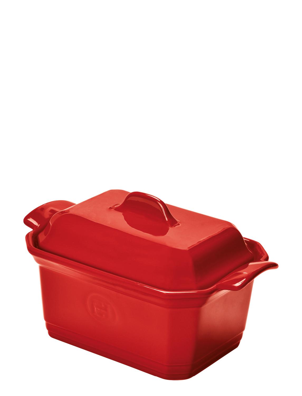 Онлайн каталог PROMENU: Форма для фуа-гра с прессом и крышкой Emile Henry, 15,5х12 см, красный Emile Henry 349706