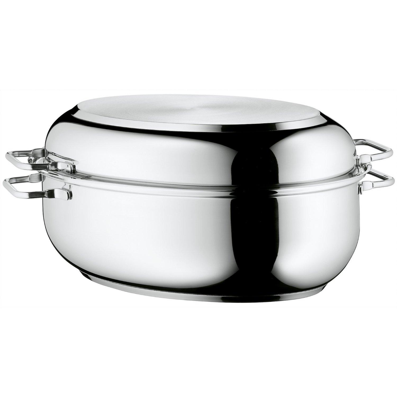 Онлайн каталог PROMENU: Кастрюля овальная с крышкой WMF, объем 8,5 л, диаметр 41 см, серебристый WMF 07 8801 6040