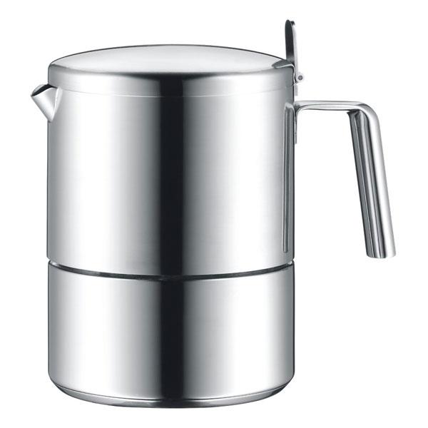 Онлайн каталог PROMENU: Кофеварка для эспрессо на 6 чашек WMF Kult, объем 0,18 л, серебристый WMF 06 3101 6030