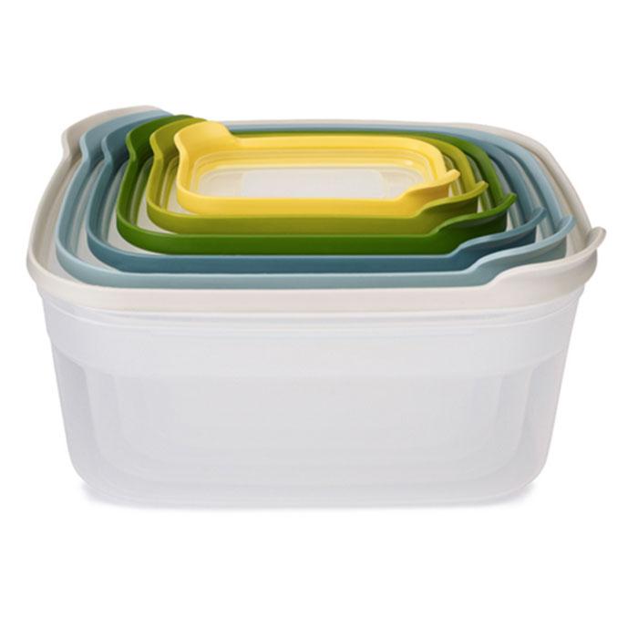 Онлайн каталог PROMENU: Набор контейнеров для хранения продуктов Joseph Joseph nest, прямоугольные , 4,5 л, 3 л, 1,85 л, 1,1 л, 0,54 л и 0,23 л, разноцветный, 6 предметов Joseph Joseph 81035