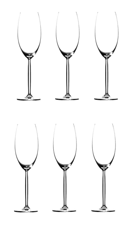 Онлайн каталог PROMENU: Набор бокалов для шампанского Schott Zwiesel DIVA, объем 0,293 л, прозрачный, 6 штук Schott Zwiesel 105702_6