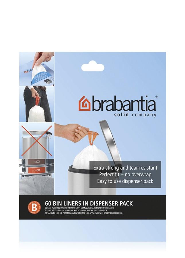"""Онлайн каталог PROMENU: Набор мусорных пакетов Brabantia (5 л), """"В"""" 60 шт. Brabantia 348969"""