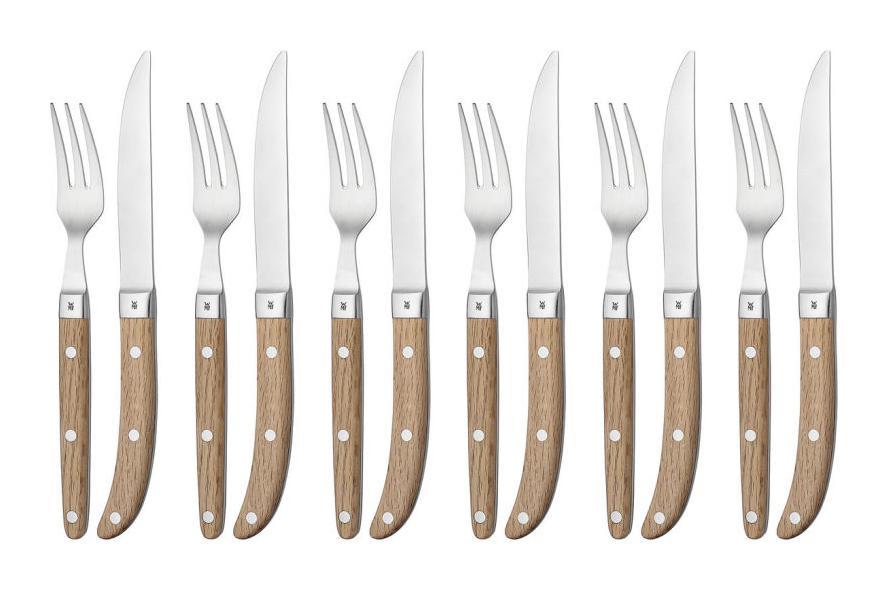 Онлайн каталог PROMENU: Набор приборов столовых для стейка WMF Ranch, 12 предметов в наборе                           12 8063 6046