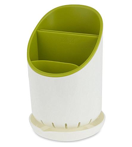 Онлайн каталог PROMENU: Органайзер для кухонных приборов со сливом Joseph Joseph dock, 12х19х12,7 см, зеленый Joseph Joseph 85074