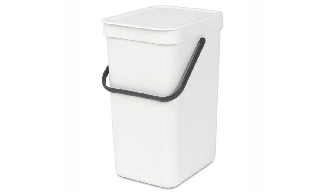 Онлайн каталог PROMENU: Ведро для мусора Sort&Go Brabantia, объем 12 л, белый Brabantia 109782