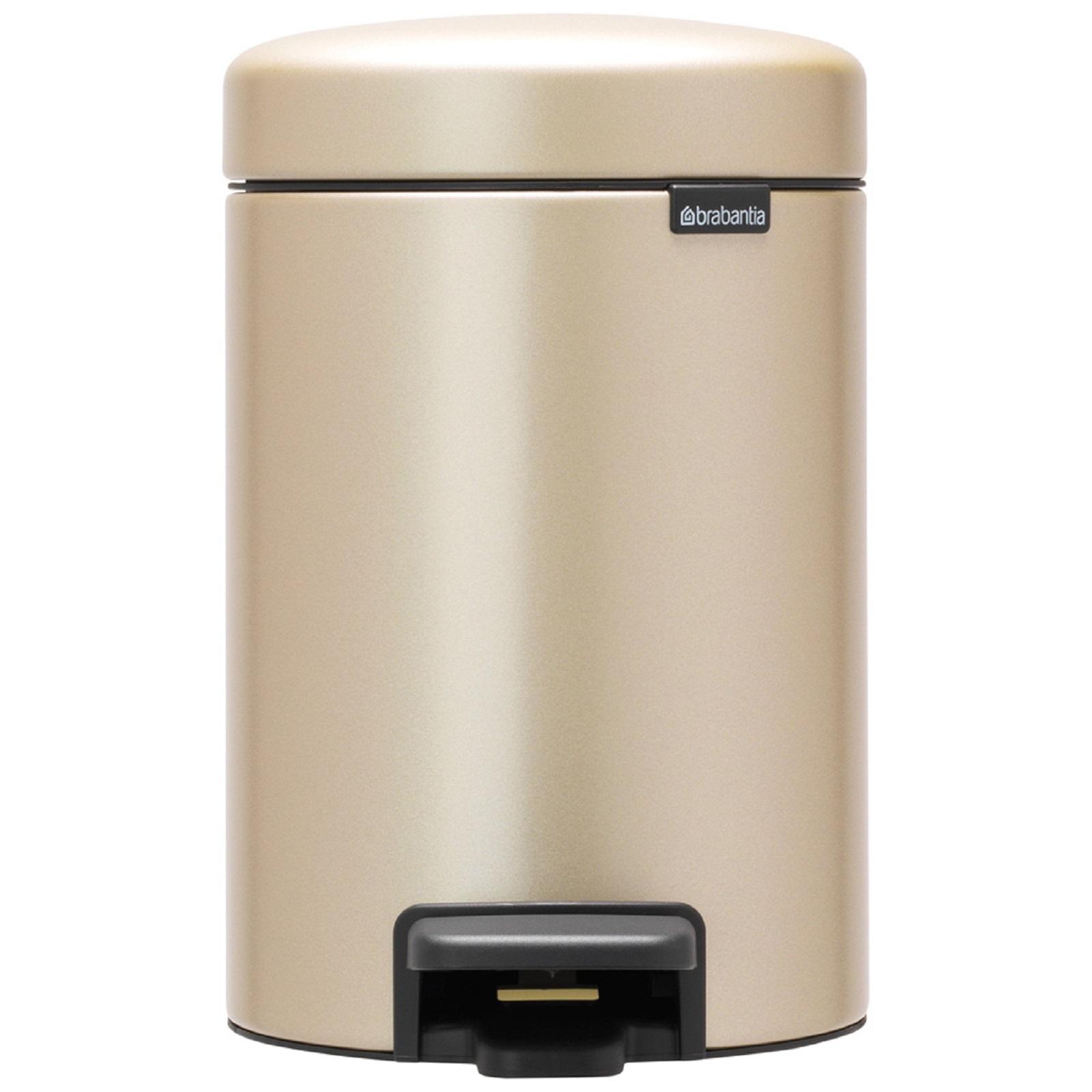 Онлайн каталог PROMENU: Бак для мусора Pedal Bin NewIcon Brabantia, объем 3 л, шампань бежевый  304408