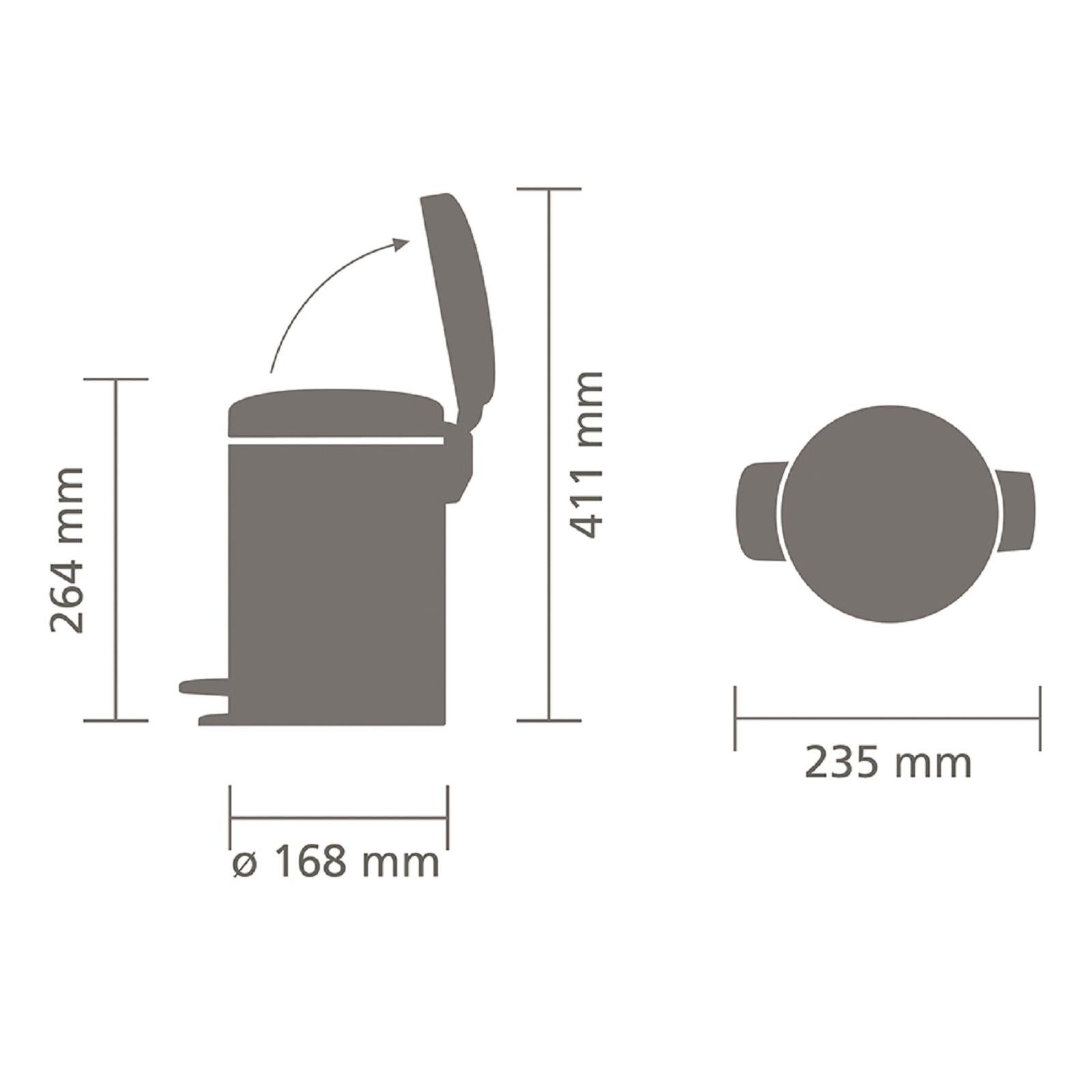 Бак для мусора Pedal Bin NewIcon Brabantia, объем 3 л, шампань бежевый Brabantia 304408 фото 8