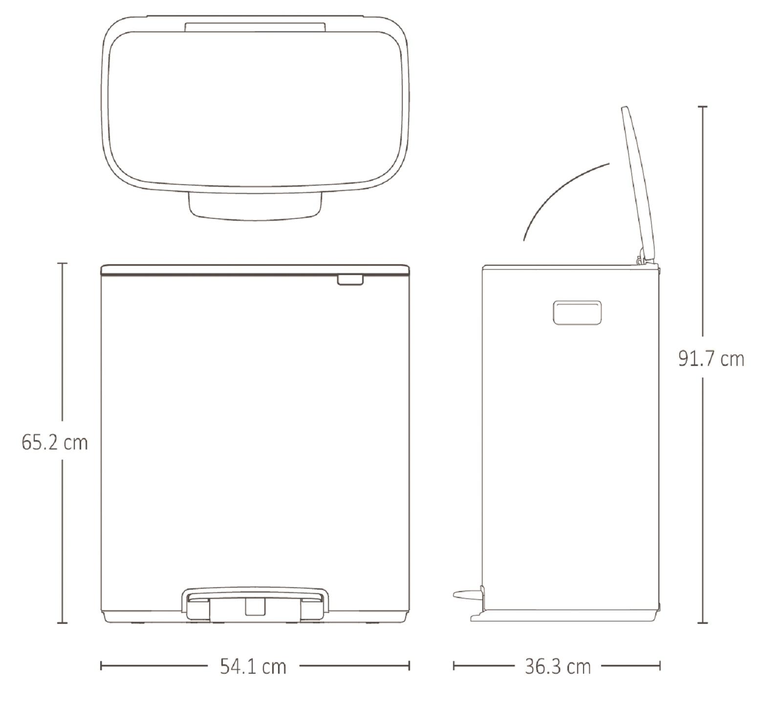 Бак для мусора с педалью BO PEDAL BIN Brabantia, объем 60 л, белый Brabantia 211300 фото 15