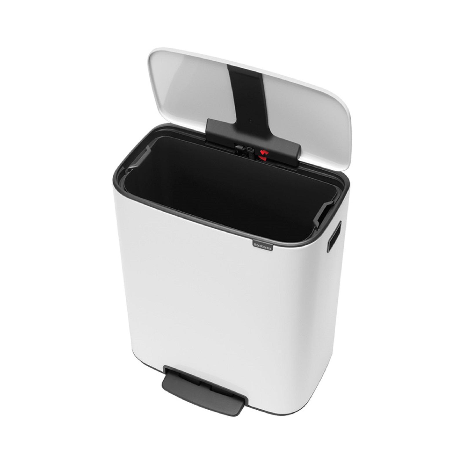 Бак для мусора с педалью BO PEDAL BIN Brabantia, объем 60 л, белый Brabantia 211300 фото 4