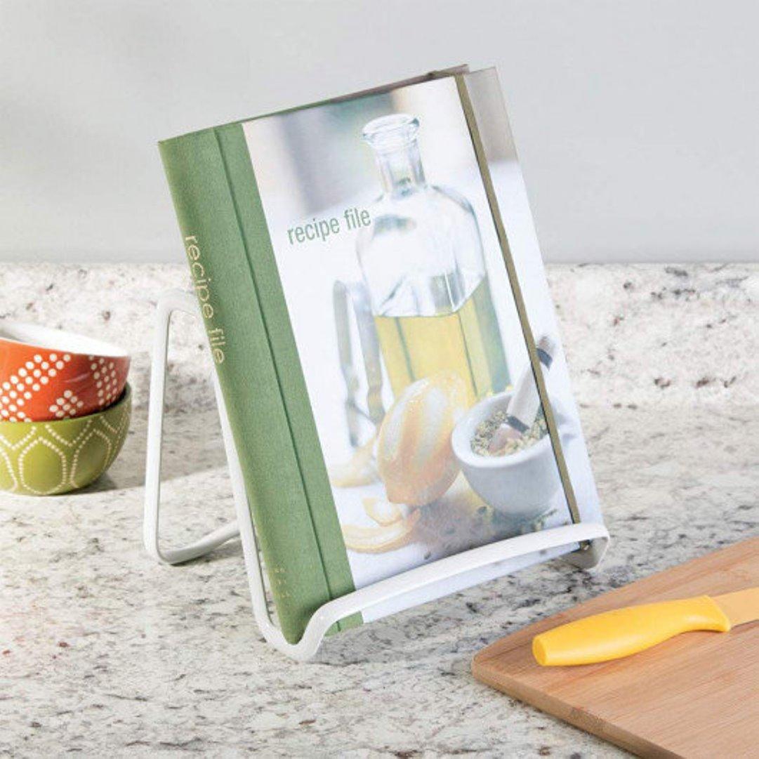 Держатель для планшета или книги рецептов iDesign AXIS, 17х19,1х16 см, серебристый Interdesign 59496EU фото 2