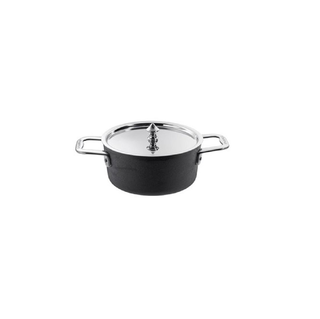 Онлайн каталог PROMENU: Кастрюля с крышкой порционная Scanpan MAITRE D, диаметр 14 см, объем 0,9 л, высота 6,7 см, черный                                   97251400