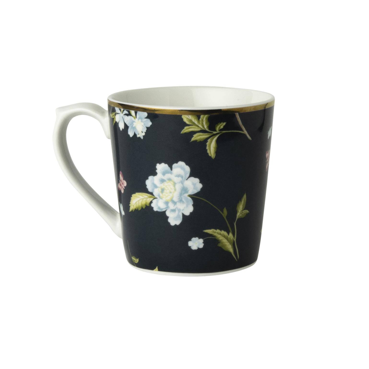 """Онлайн каталог PROMENU: Кружка """"Цветы"""" Laura Ashley HERITAGE, объем 0,35 л, темно-синий с цветами                                   180420"""