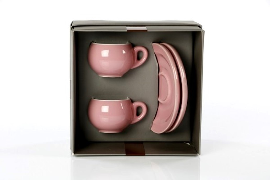 Онлайн каталог PROMENU: Набор из 2 чашек и 2 блюдец Danesi, 4 предмета, розовый  3010675