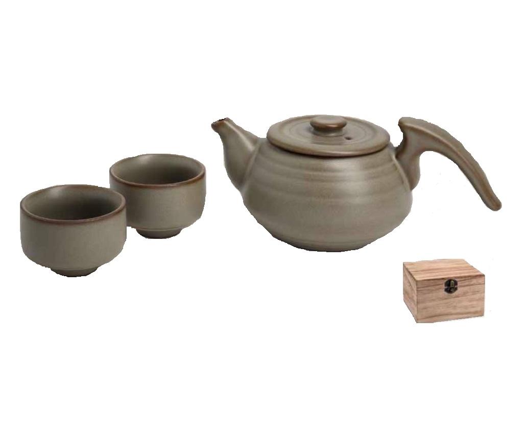 Онлайн каталог PROMENU: Набор: чайник (0,24 л) и 2 чашки (50 мл) для чайной церемонии в деревянной коробкеTeaLogic, светло-коричневый                                   170 030