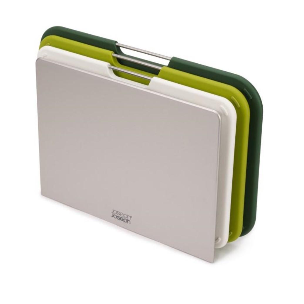 Онлайн каталог PROMENU: Набор досок разделочных с подставкой Joseph Joseph NEST, 22x31,9x6,7 см, зеленый, 3 предмета                                   60163