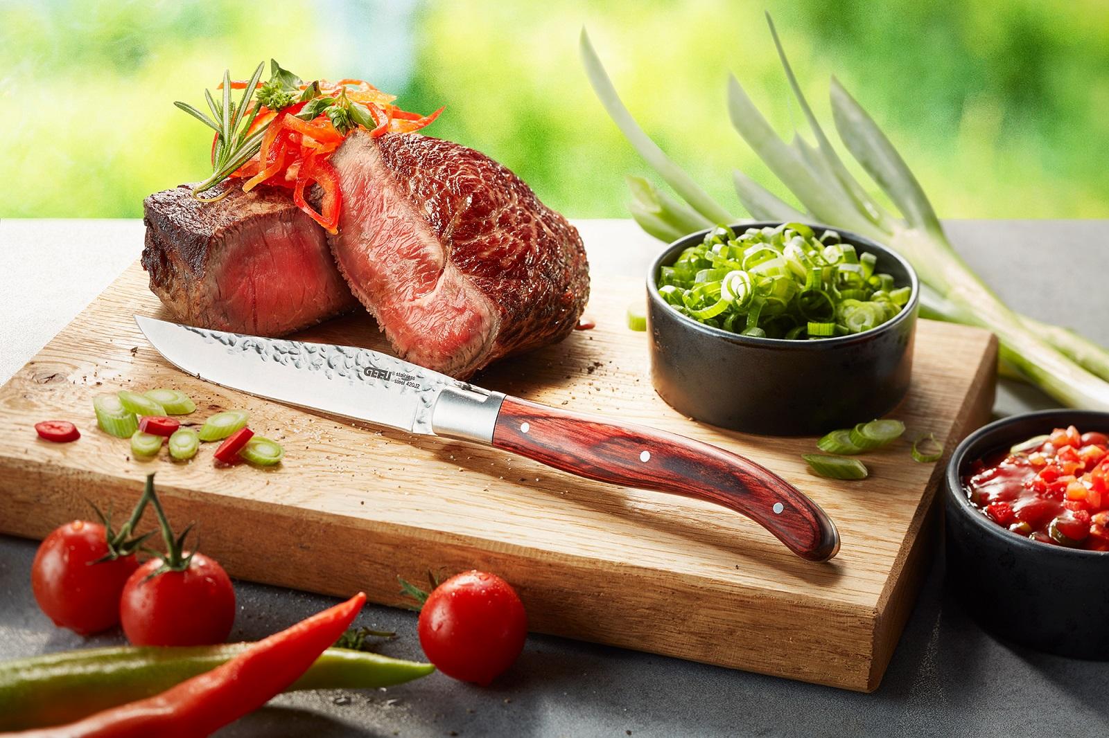 Набор ножей для стейка GEFU RANCHO, серебристый с бежевым, длина 22,5 см, 6 штук GEFU 13951 фото 1