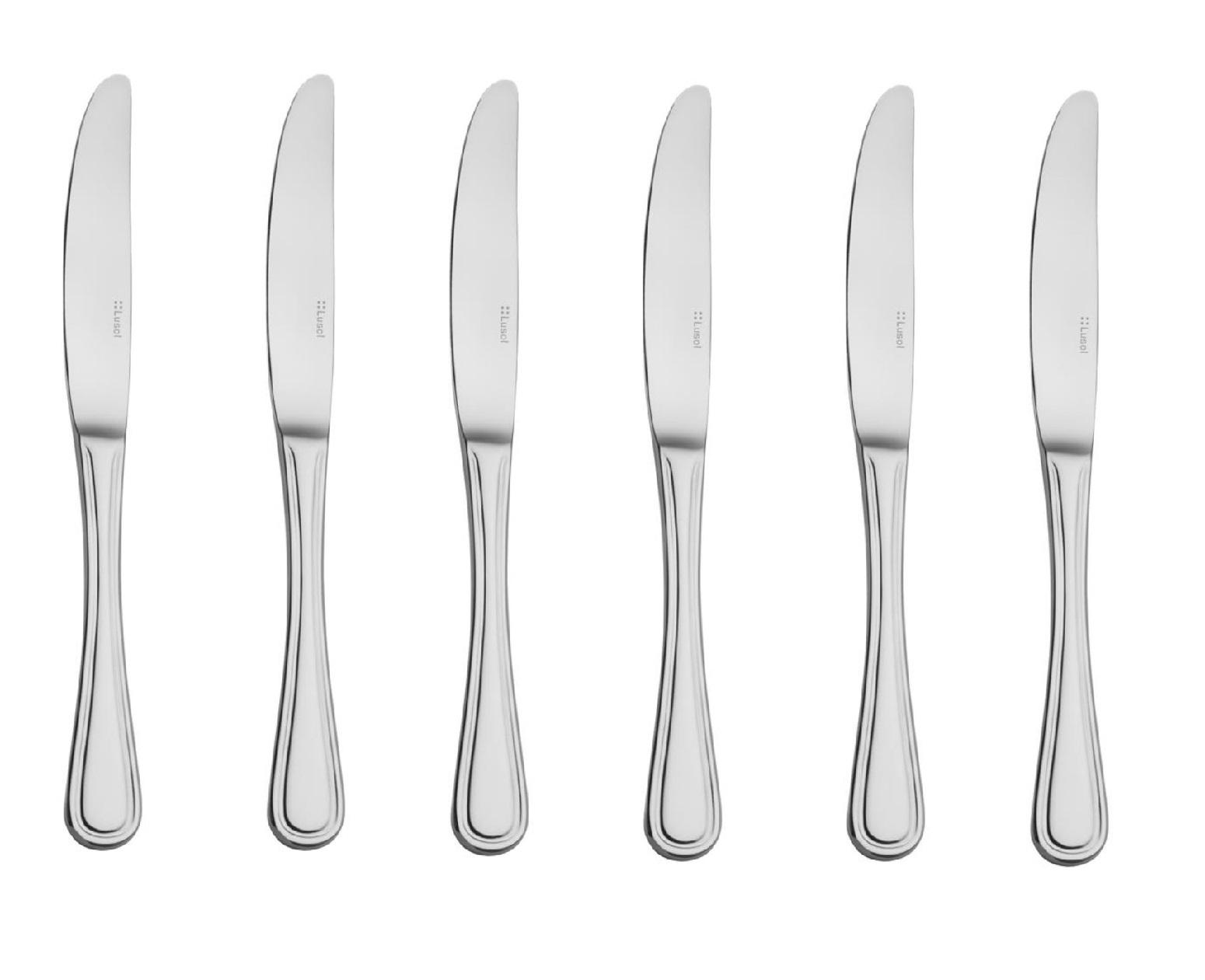 Набор ножей столовых Lusol AVALON, длина 23,4 см, серебристый, 6 штук купить украина