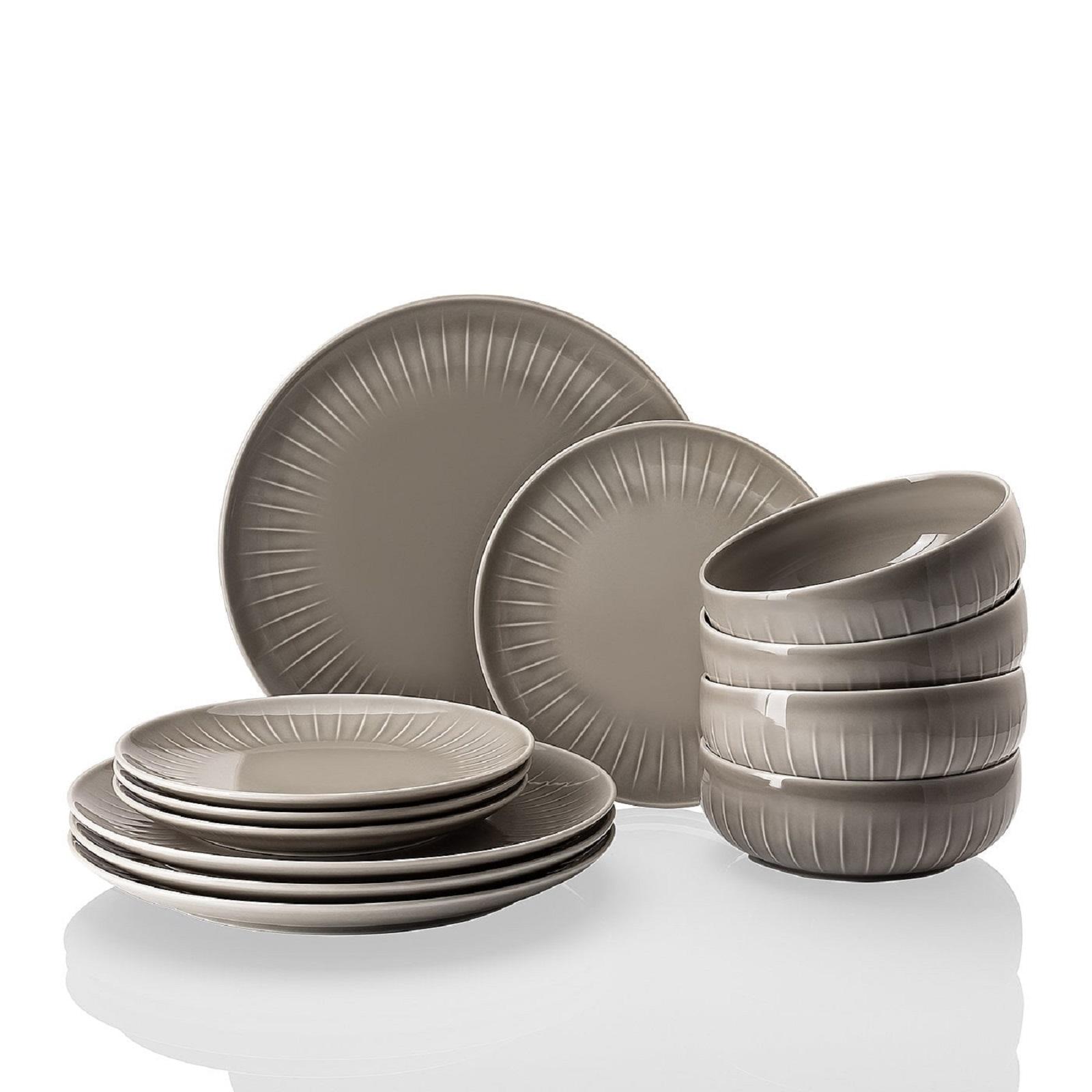 Онлайн каталог PROMENU: Набор посуды столовой Arzberg JOYN, серый, 12 предметов  44020-640202-28650