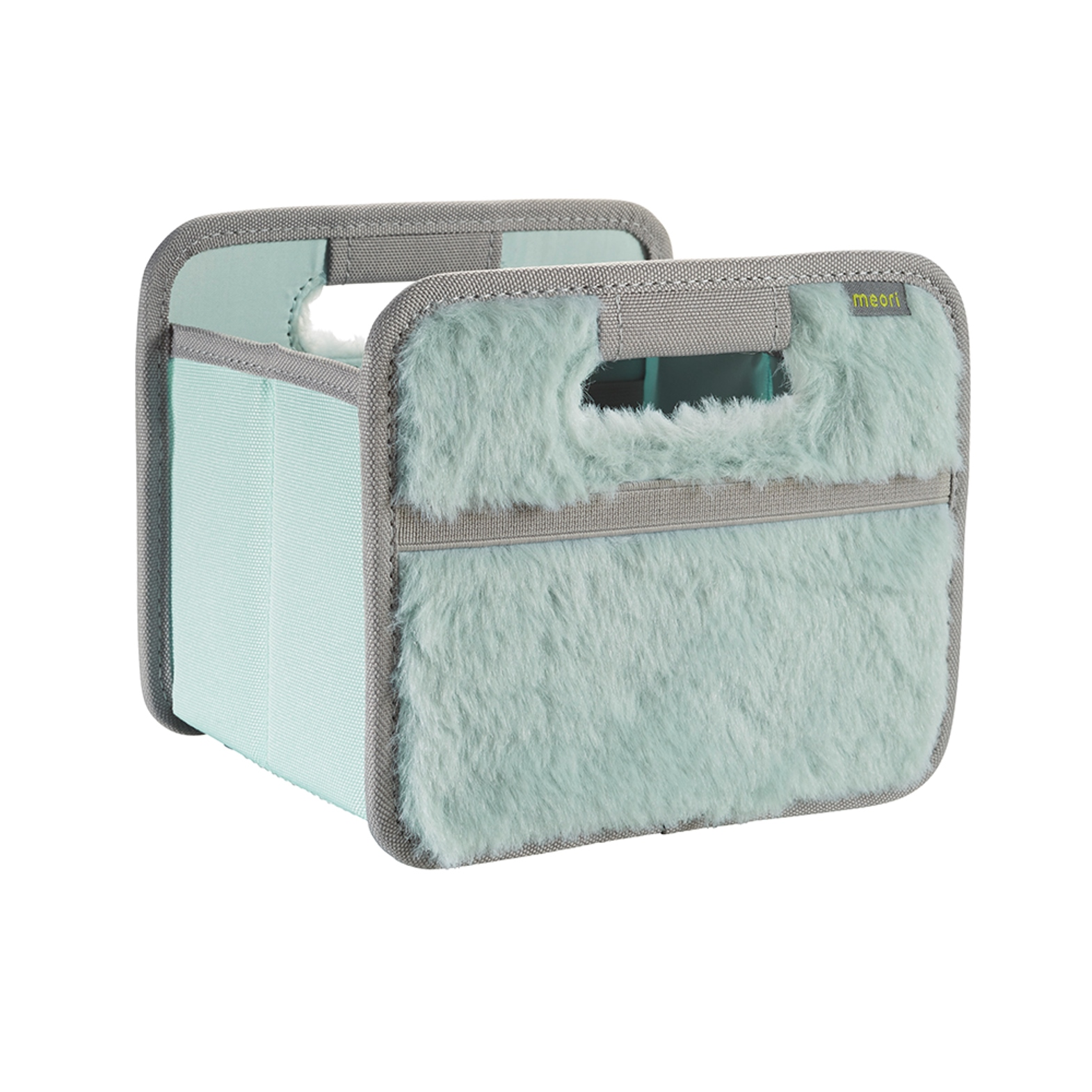 Онлайн каталог PROMENU: Складной короб для хранения мини Meori, 16,5x14x12,5 см, ментоловый с мехом Meori A100665