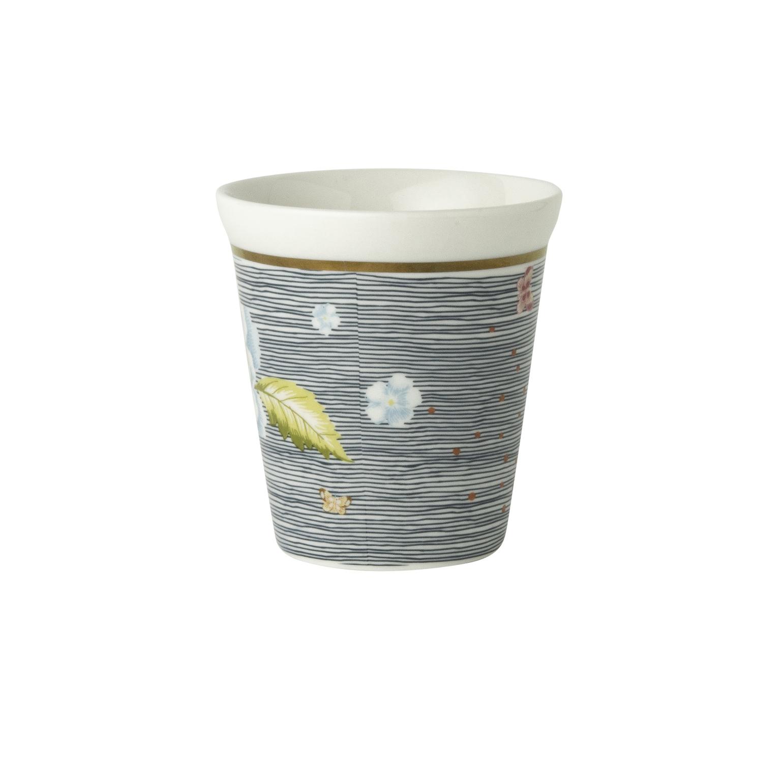"Онлайн каталог PROMENU: Стакан ""Цветы"" Laura Ashley HERITAGE, объем 0,27 л, синяя полоска с цветами                                   180426"