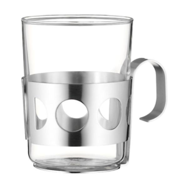 Онлайн каталог PROMENU: Стакан для чая с подстаканником WMF COFFEE AND TEA, серебристый WMF 06 3616 6030