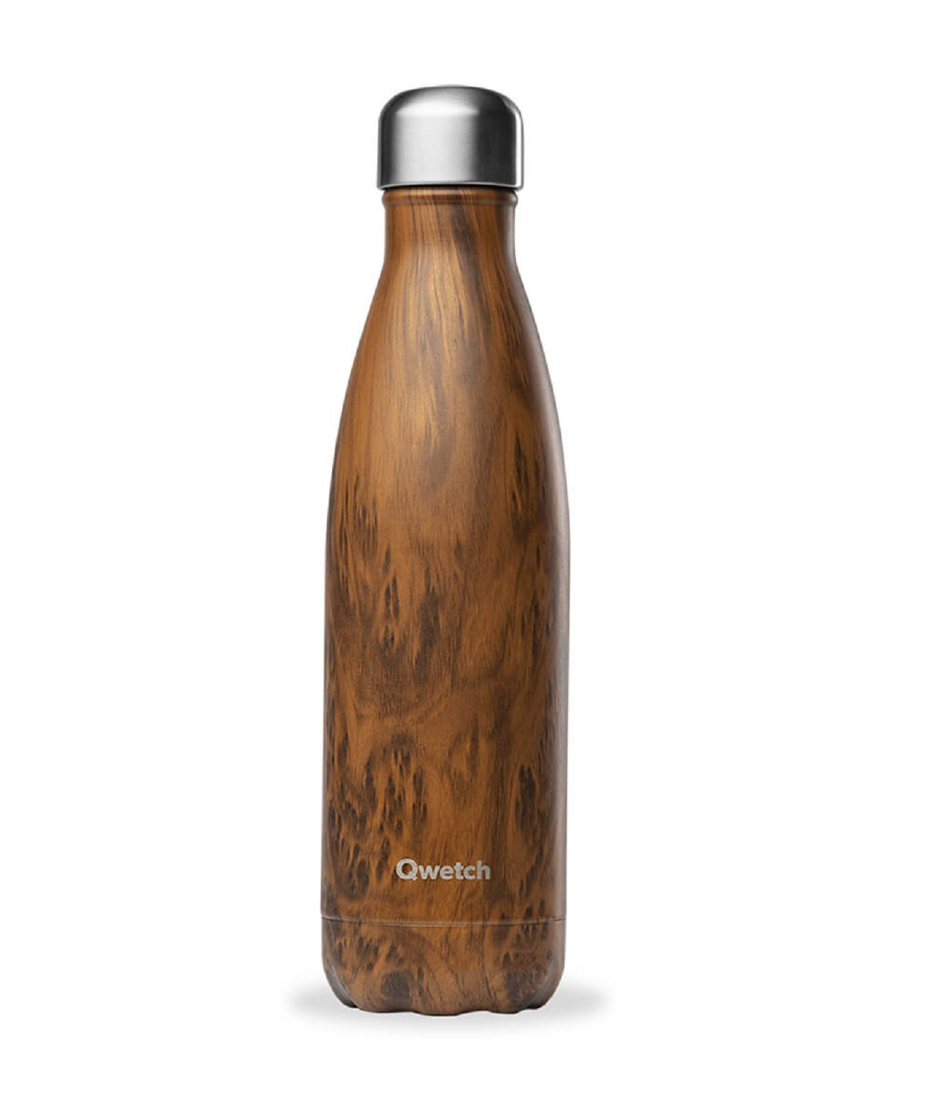 Онлайн каталог PROMENU: Термобутылка Qwetch WOOD, объем 0,5 л, коричневый  QD3084