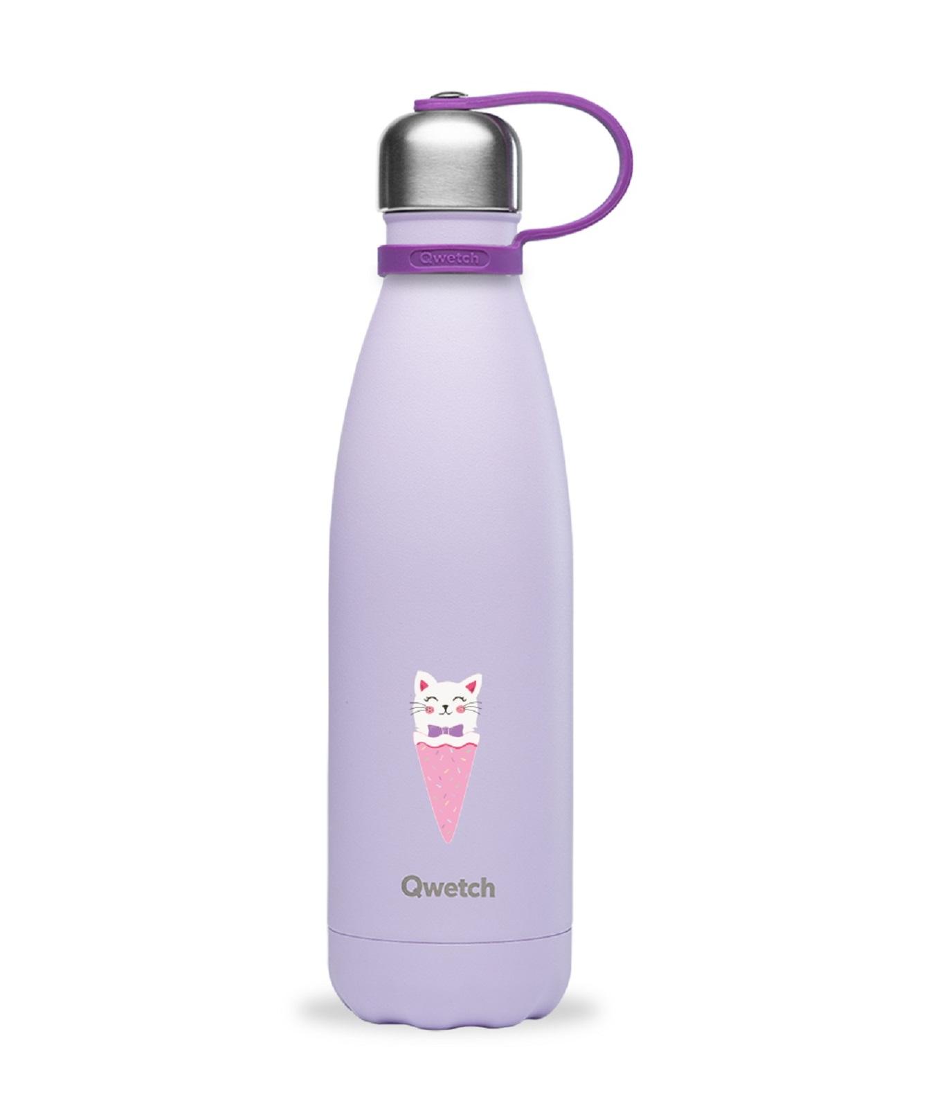 Онлайн каталог PROMENU: Термобутылка Qwetch KIDS, объем  0,5 л, светло-фиолетвый  QK9005