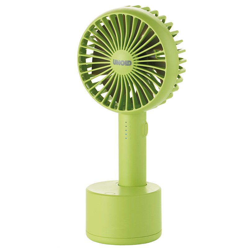 Онлайн каталог PROMENU: Ручной вентилятор Unold HANDHELD FAN Breezy Swing, высота 21,2 см, белый  86636